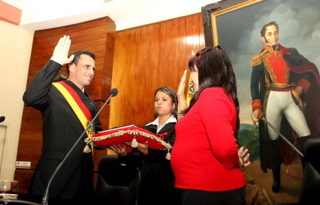 Juramentación como Gobernador de Miranda